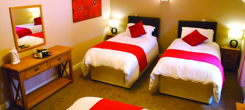Warm and comfy single, double and triple bedrooms